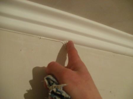 Фото очистки галтели от герметиков или шпаклевки