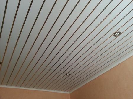 ПВХ-панели на потолке на кухне