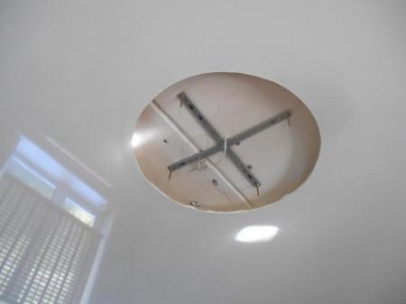 Каркас для светильника, «утопленного» в потолке