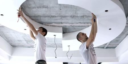 Двухуровневый потолок и его монтаж