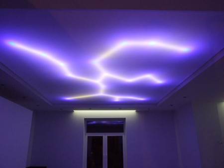 Нестандартное освещение спальной