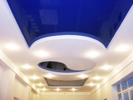Качественно изготовленный двухуровневый потолок
