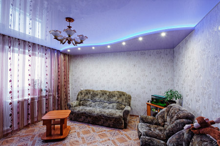 Фото дизайна подвесной конструкции в интерьере