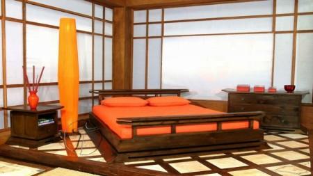Фото помещения в японском стиле с использованием простых геометрических форм