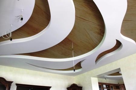Оригинальный дизайн двухуровневого потолочного покрытия