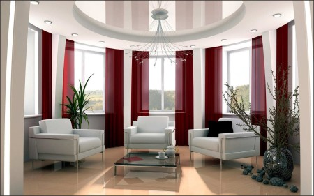 Неординарный дизайн помещения, где карниз – главная составляющая