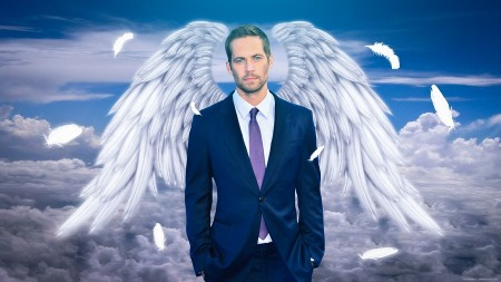 Пример фото с любимым людьми, в виде ангела сделанное в современном стиле