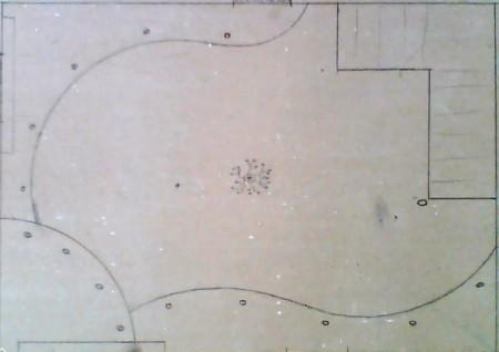 Зарисовка плана – важный этап, светильники обязательно отмечаются