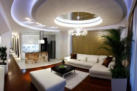 Многоуровневый потолок из гипсокартона и его освещение