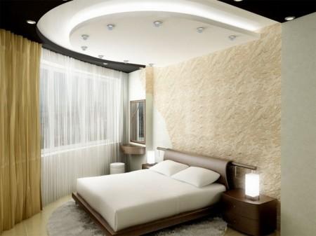 Дизайн спальни с точечными источниками света