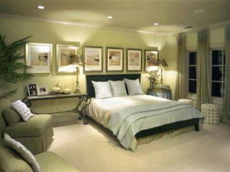Фото комнаты в зелёных цветах