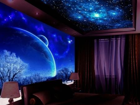 Интерьер в виде космической вселенной