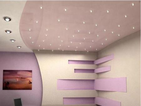 Фото освещения гостиной с помощью встроенных светильников