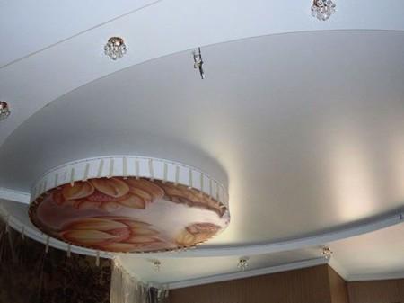 Натяжной потолок из сатина с фотопринтом