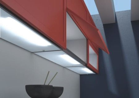 Осветительный прибор с люминесцентными лампами