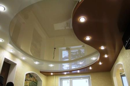Необычный натяжной потолок в интерьере