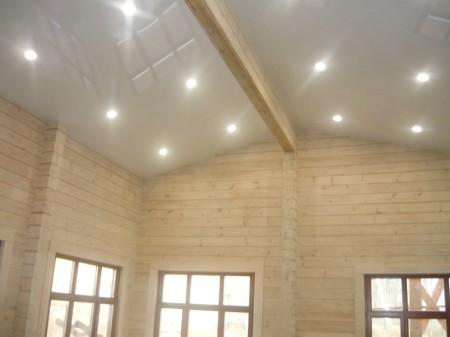 Натяжные потолки с подсветкой на кухне