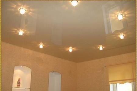 Симметричное расположение светильников