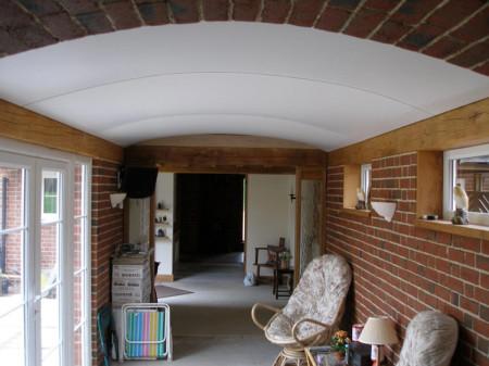 Тканевый потолок в доме