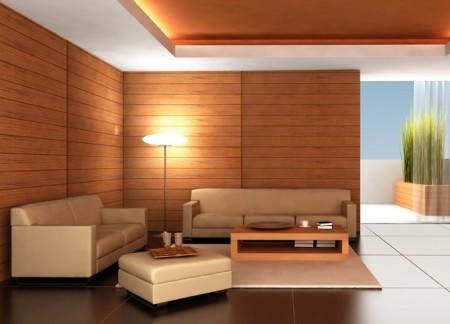 Вид гипсокартонной конструкции в интерьере