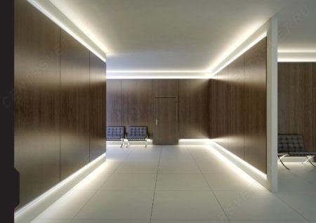 Внешний вид светодиодной ленты в дизайне интерьера