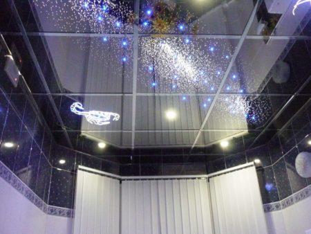 Оригинальный дизайнерский потолок, монтаж которого можно выполнить самостоятельно