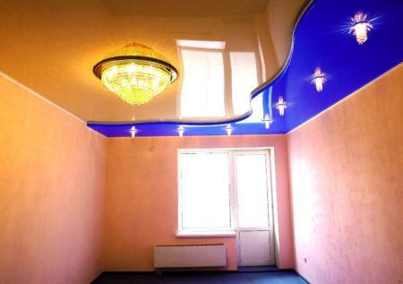 Оригинальный натяжной потолок – стильное и современное решение для дома