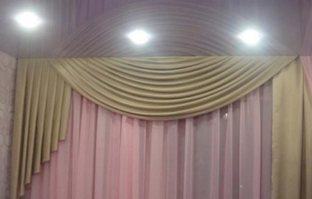 Скрытые шторы на всю стену