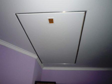 Конструкция открытого типа для потолочной поверхности
