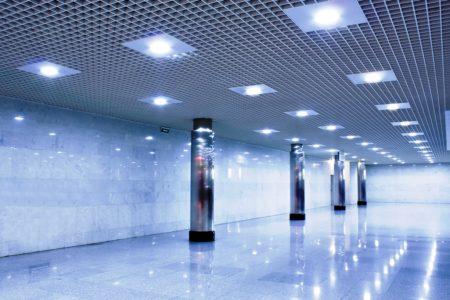 Потолок Грильято - оригинальное покрытие, доступное в применении в помещениях большого размера
