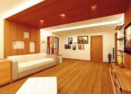 Красивое покрытие под древесину – изюминка помещения