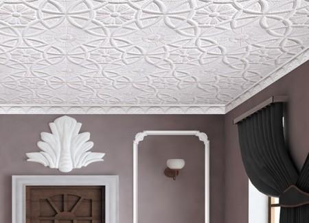 Пенопластовые плиты на потолке