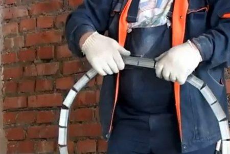 Подготовка гибкой направляющей