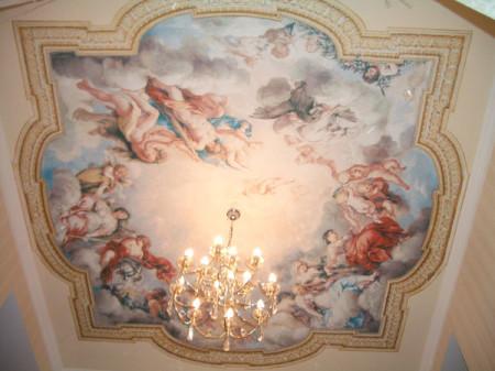 Художественный натяжной потолок, фото