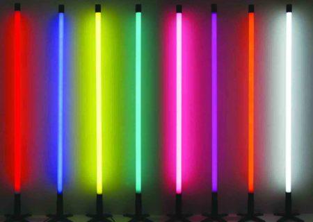 Неоновые трубки для оформления подсветки в нише короба