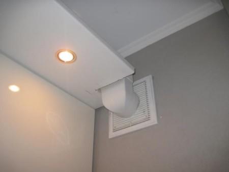 Вытяжной короб под натяжной потолок