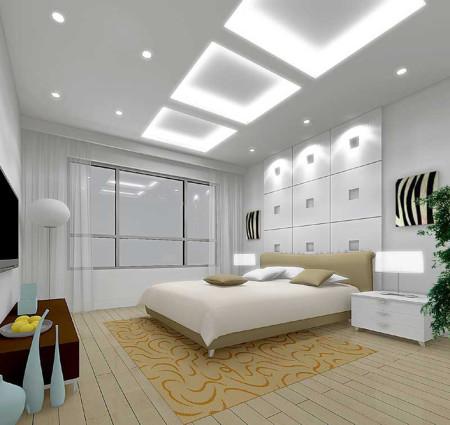 Спальня на 12 кв м с высокими потолками