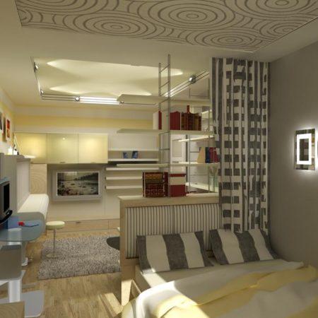 Деление гостиной на зоны
