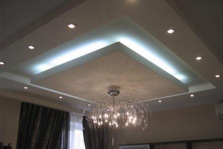 Подсветка для парящего потолка в нише короба