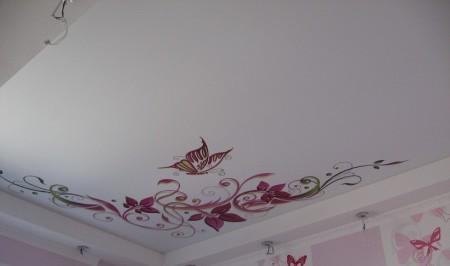 Фото простого узора на потолке