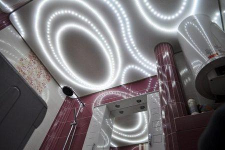 Фото приборов освещения потолка с подсветкой в качестве источника света