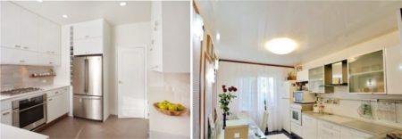 Глянцевое и матовое полотно в интерьере кухонь