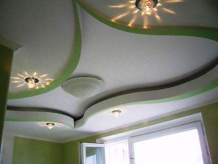 Уникальность и неповторимость формы потолочного покрытия – изюминка интерьера