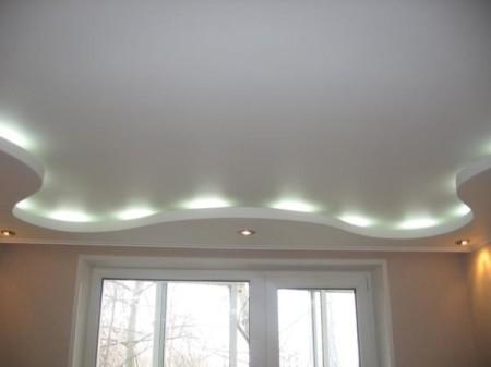 Декоративная иллюминация потолка из гипсокартона