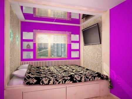 Шикарная спальня в сочных розовых оттенках