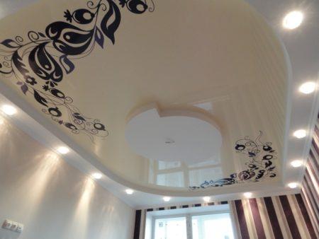 Натяжной виниловый потолок с фотопринтом