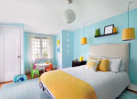 Фото натяжного потолка в спальной комнате