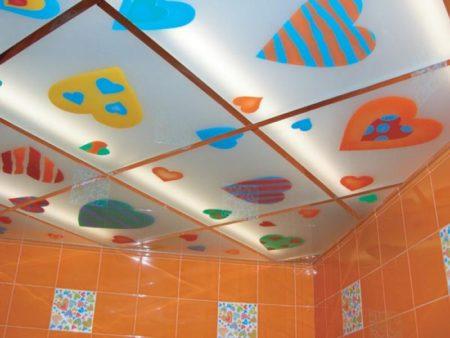 Кассетный потолок, пример оформления