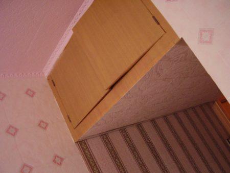 Отделка полки под потолок комнаты