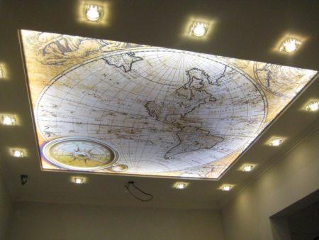 Тканевый потолок в качестве украшения для любого помещения